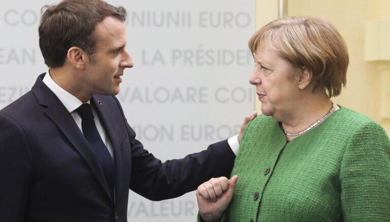 Francijas un Vācijas viedokļi ne vienmēr sakrīt, atzīst Merkele
