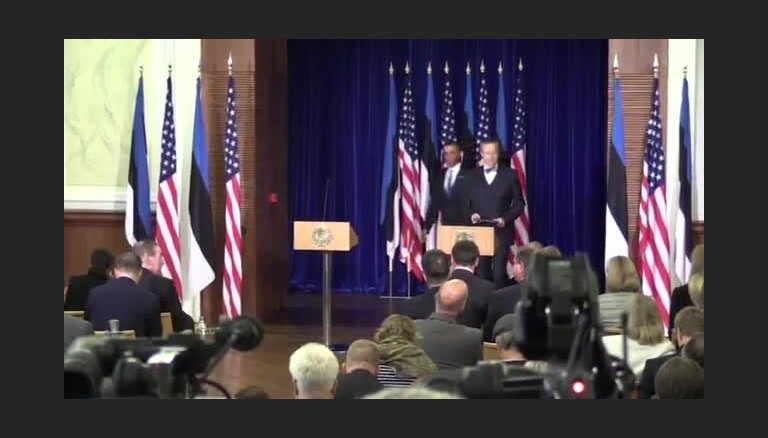 Baraka Obamas un Tomasa Hendrika Ilvesa preses konference