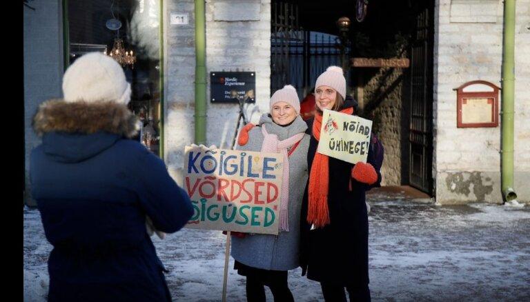 В Эстонии впервые прошел женский марш против дискриминации