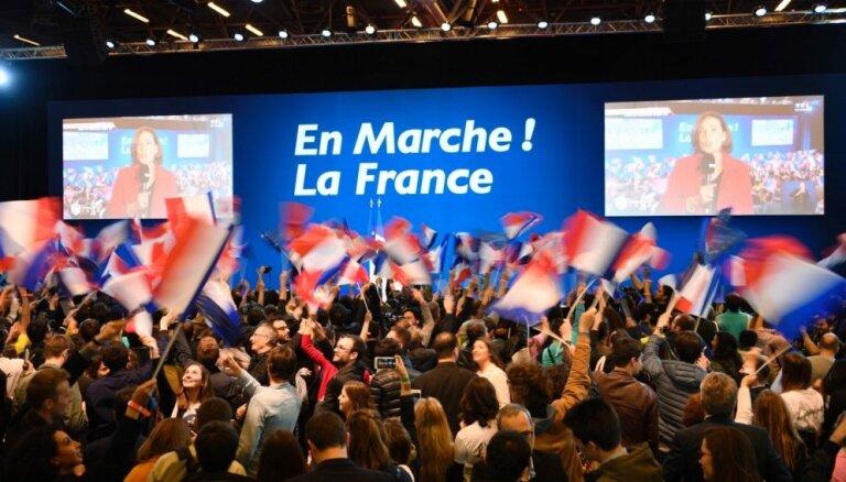Galīgie rezultāti: Francijas vēlēšanās Makrons saņēmis 24,01 % balsu, Lepēna - 21,3 %