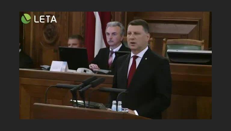Valsts prezidenta uzruna Saeimai