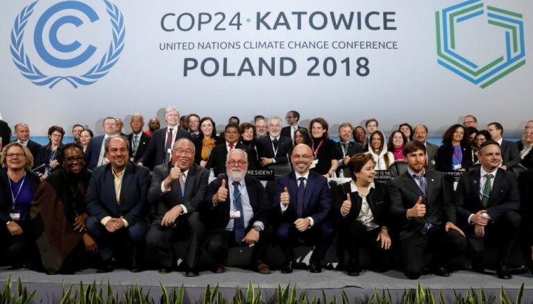 ANO klimata konferencē Polijā vienojušies par Parīzes klimata pakta īstenošanu