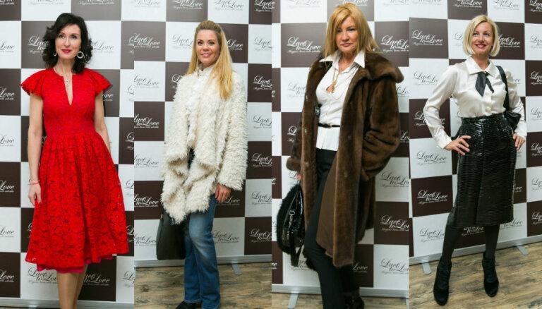 Foto: Latvijas sabiedrības dāmu stils veikala 'Lace To Love' atklāšanā