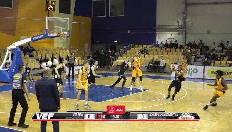 'OlyBet' basketbola līga: 'VEF Rīga' - 'Jēkabpils/SMScredit.lv'. Pilns ieraksts