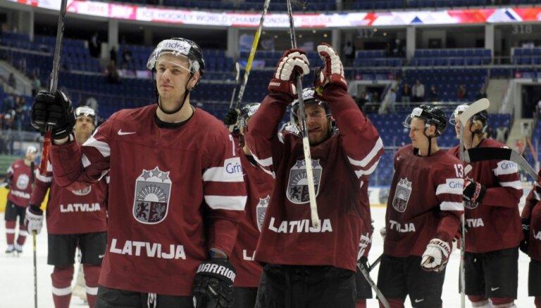 Latvijas hokeja izlase IIHF rangā atkritusi uz 12. vietu