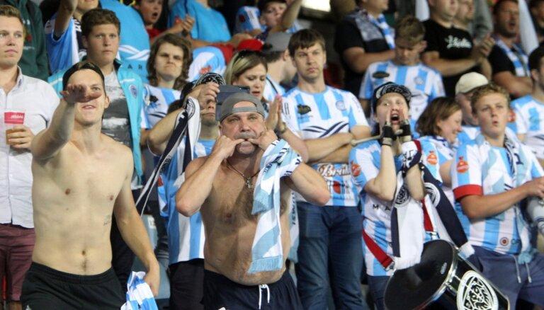 Latvijas futbola sacensībās atcelts aizliegums atrasties tribīnēs