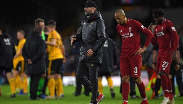 'Liverpool' zaudē 'Wanderers' un izstājas no Anglijas kausa izcīņas