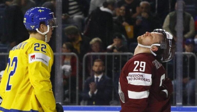 И четырех шайб мало. Латвия проиграла Швеции и лишилась шансов на плей-офф