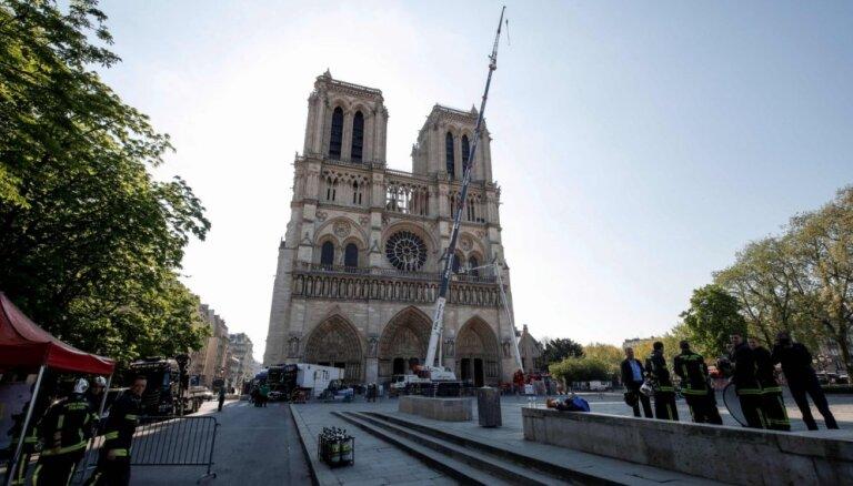 Rinkēvičs Francijā pauž Latvijas gatavību palīdzēt Parīzes Dievmātes katedrāles restaurācijā
