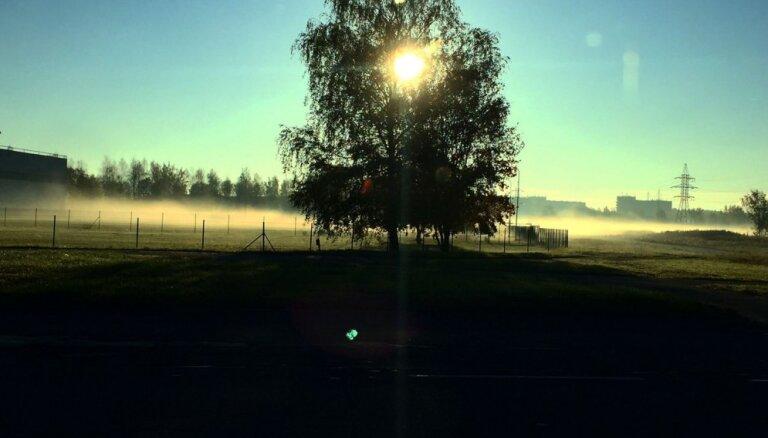 Kā migla piektdienas rītā ieskauj Mežciemu – aculiecinieka acīm