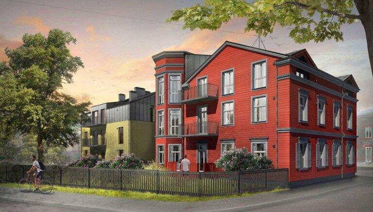 Foto: Saglabājot vēsturiskās ēkas veidolu, Āgenskalnā būvēs jaunu dzīvojamo ēku