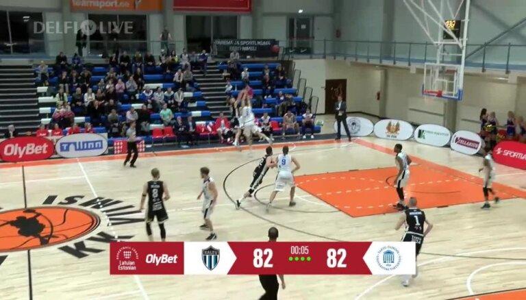Pēdējo sekunžu metiens 'OlyBet' Latvijas-Igaunijas Basketbola līgā