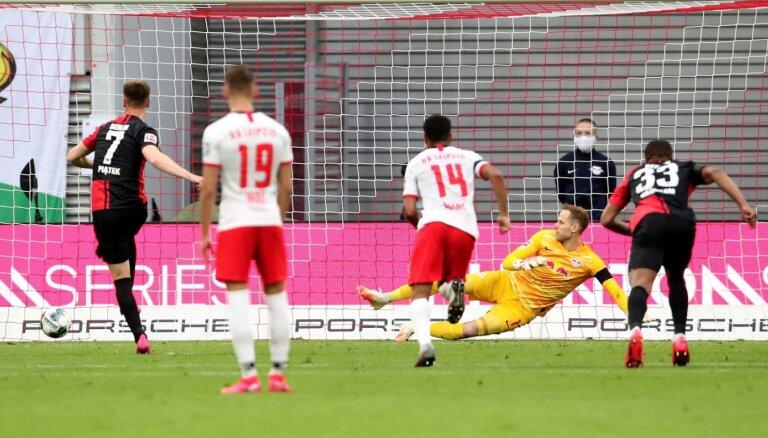'Hertha' mača galotnē izrauj punktu pret spēcīgo 'Leipzig'
