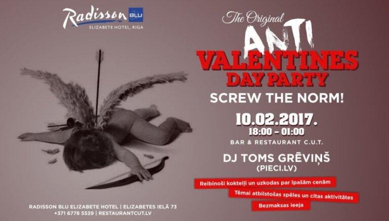 Nē rozā lācīšiem un šokolādes sirdīm! Rīgā notiks Anti-Valentīndienas ballīte