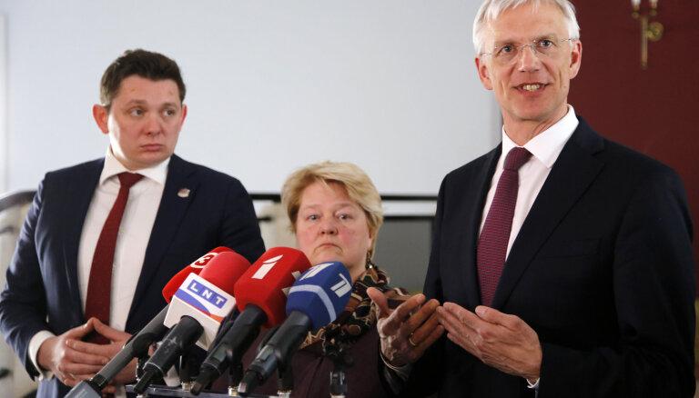 Kariņš un Kaimiņš nesaredz problēmas 'KPV LV' darbībā valdībā