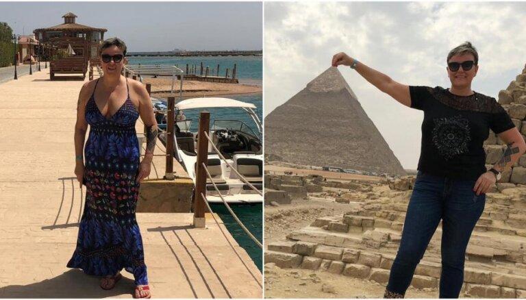 Foto: Lindas Mūrnieces raibie piedzīvojumi saulainajā Ēģiptē