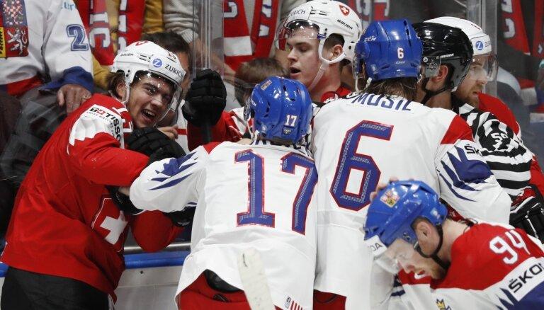Pasaules hokeja čempionāts: Čehija – Šveice, Somija – Vācija. Teksta tiešraide