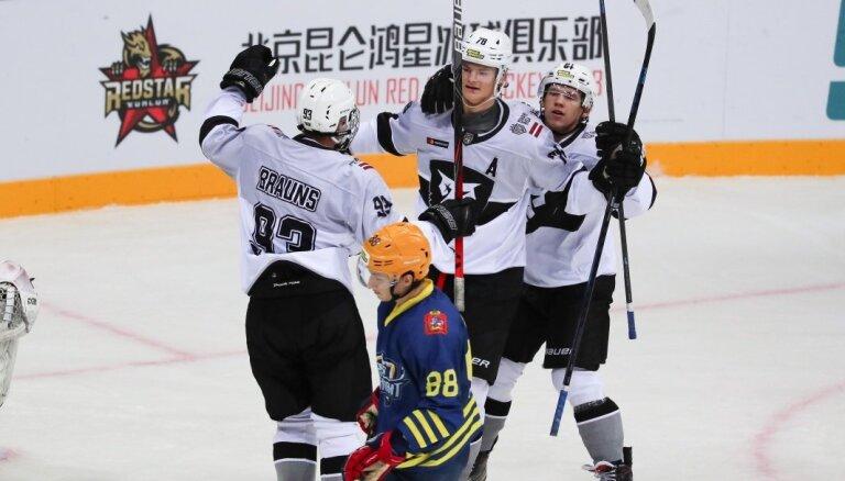 'Rīgas' hokejisti viesos atkārtoti uzvar 'Atlant' vienību