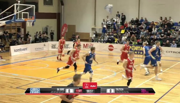 'OlyBet' basketbola līga: 'Ogre' - 'TalTech'. Pilns ieraksts