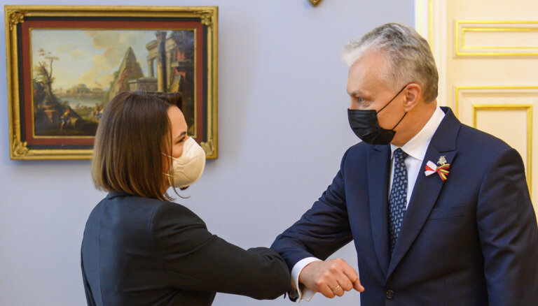 Президент Литвы на встрече с Тихановской поздравил белорусов с Днем Воли