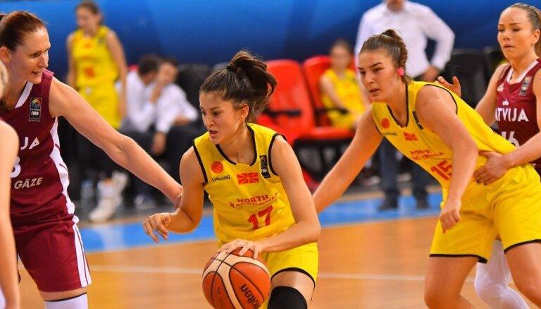 Latvijas basketbolistēm ģenerālmēģinājums izpaliek – Ziemeļmaķedonija uz Rīgu nedosies