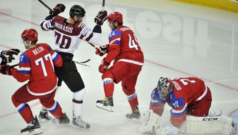 Сегодня на чемпионате мира сборная Латвии играет со сборной России
