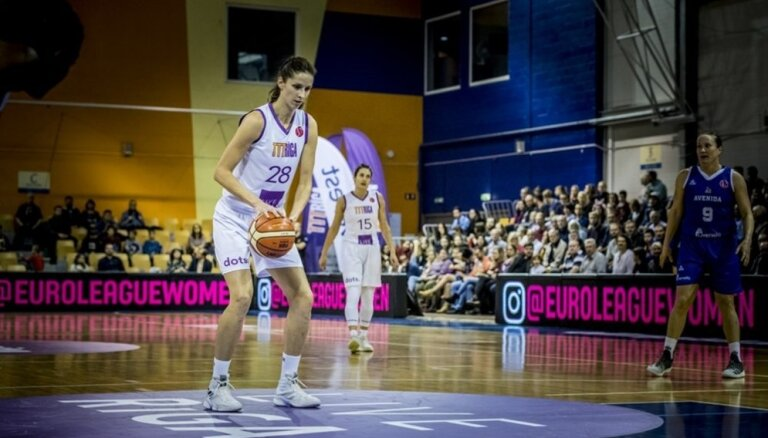 'TTT Rīga' basketbolistēm graujoša uzvara FIBA Eirolīgas mačā