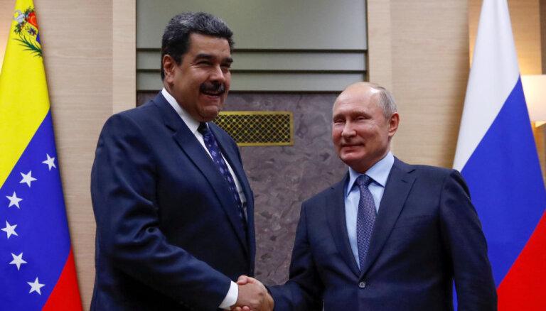 Kolumbija brīdina Krieviju par Maduro balstīšanu