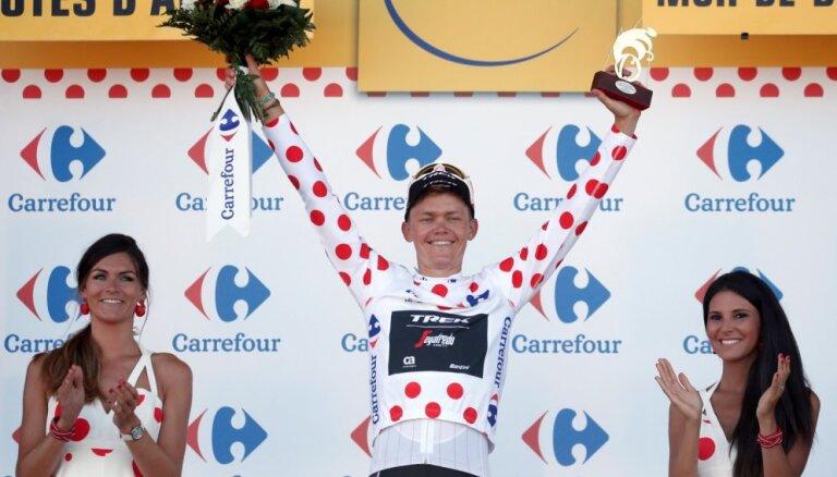 Skujiņš turpina pārsteigt: uzvar starpfinišu 'Tour de France' posmā un saglabā kalnu karaļa kreklu