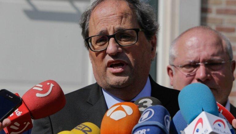 Katalonijas premjers aicina izbeigt vardarbību protestos