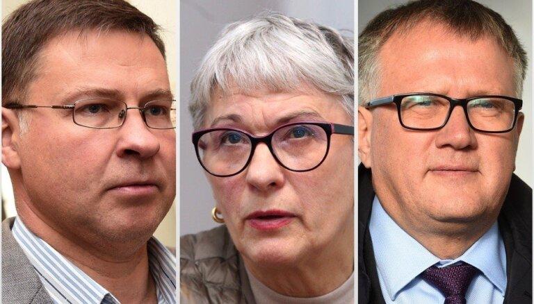 'Jaunās Vienotības' līderi EP vēlēšanās būs Dombrovskis, Kalniete un Ašeradens