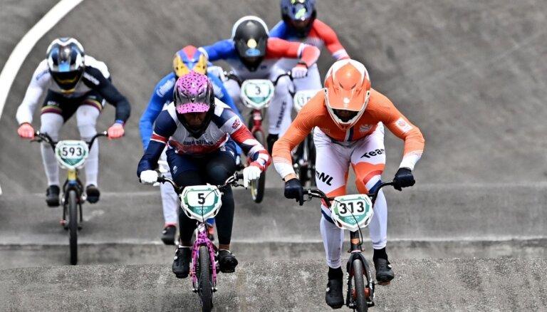 Kimmans BMX zeltu iegūst ar ceļgala kaula lūzumu; Šrīvere aptur Pahonas dominanci