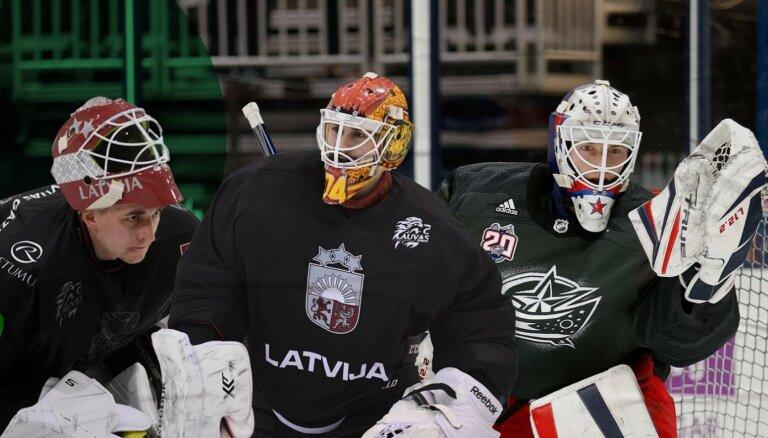 Trīs vārtsargi, vieni vārti – kurš būs Latvijas hokeja izlases 'mūris' pasaules čempionātā?