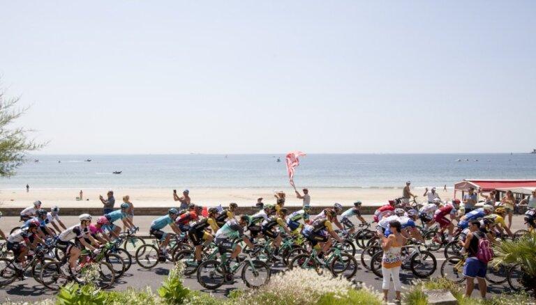 Skujiņam 140.vieta 'Tour de France' ceturtajā posmā