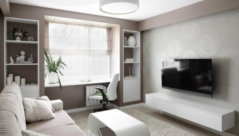 Krāsa, kas vienmēr modē – atturīga stila interjeri ar baltām mēbelēm
