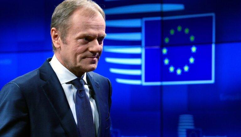 Tusks: Neilga 'Brexit' atlikšana iespējama, ja Lielbritānijas parlaments atbalsta vienošanos