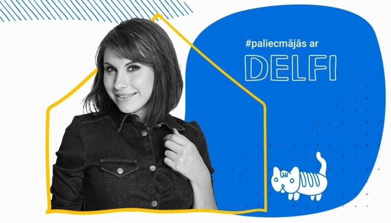 Sanda Dejus par labiem un sliktiem jokiem raidījumā '#PaliecMājās ar Delfi'. Ieraksts