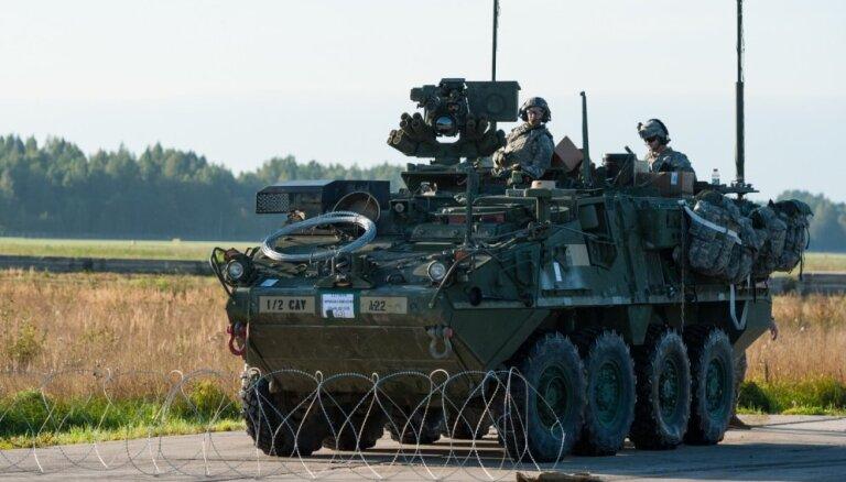 На следующей неделе территорию Латвии пересекут 200 единиц военной техники США