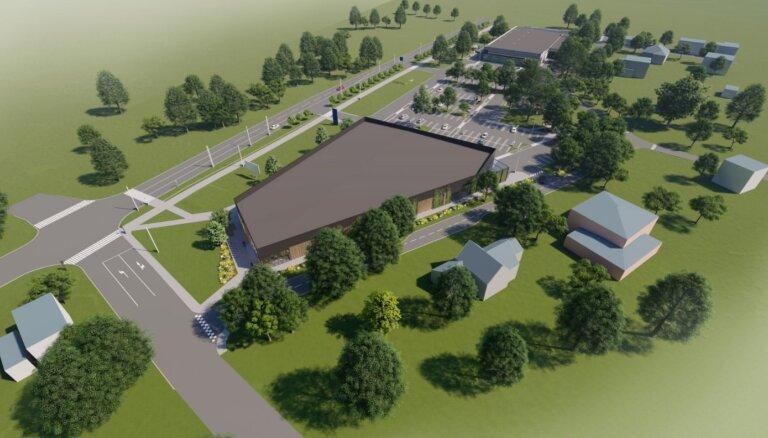 В Зиепниеккалнсе строится новый торговый комплекс, один из будущих магазинов - Lidl