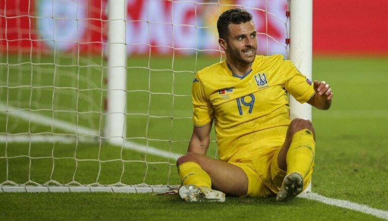 Ukrainas futbola izlase var zaudēt 'Euro 2020' atlasē gūtos punktus