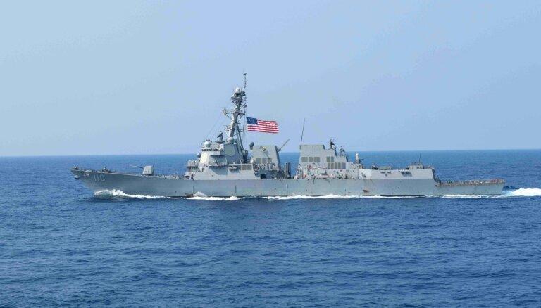 Divi ASV karakuģi devušies cauri Taivānas šaurumam