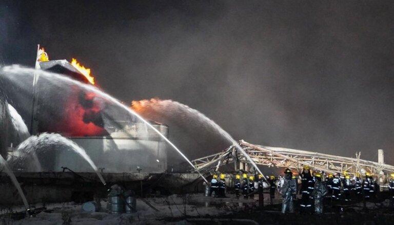 Video: Baisā sprādzienā ķīmiskajā rūpnīcā Ķīnā desmitiem bojāgājušo