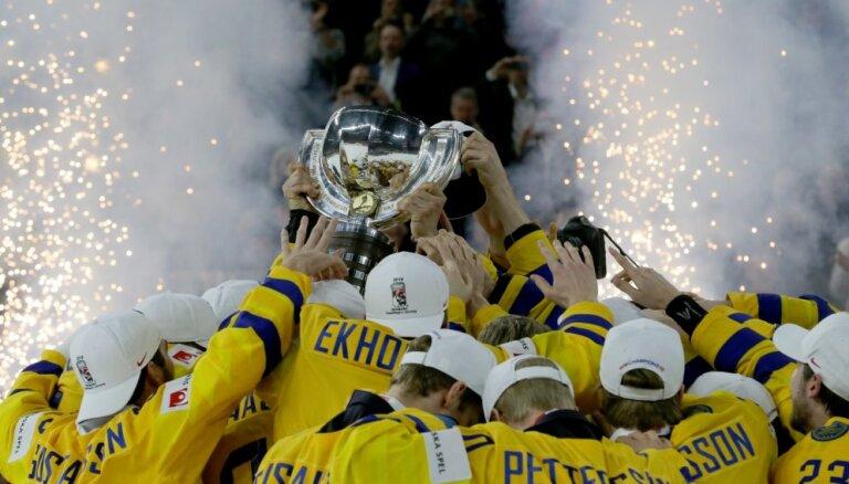 ФОТО, ВИДЕО: Сборная Швеции отмечает победу на чемпионате мира по хоккею