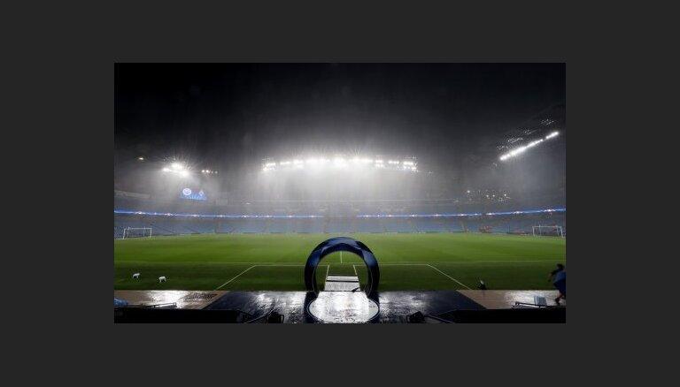 ВИДЕО: Матч Лиги чемпионов в Манчестере отменен из-за ливня