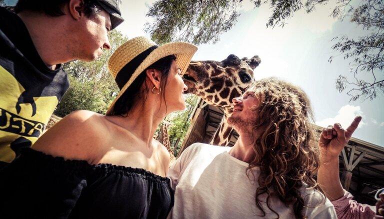 Foto: Latvijas 'Eirovīzijas' delegācijas piedzīvojumi Izraēlas zoo