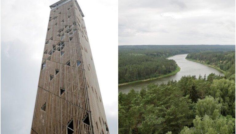 ФОТО. В Бирштонасе открыта самая высокая в Литве башня обозрения