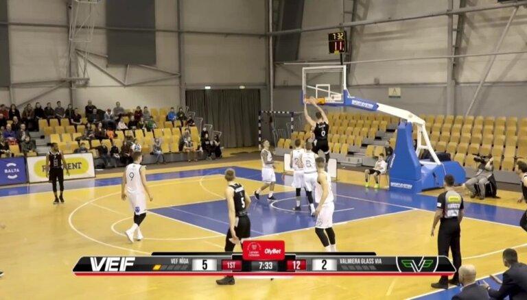 'OlyBet' basketbola līga: 'VEF Rīga' - 'Valmiera glass/ViA'. Spēles labākie momenti