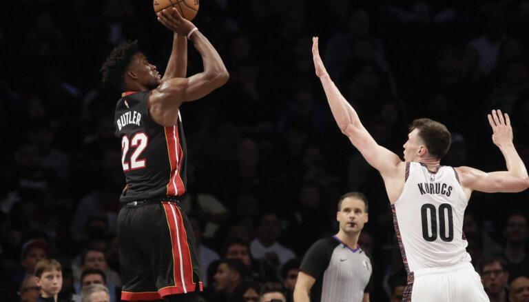Kurucs savā sezonas rezultatīvākajā spēlē ar 19 punktiem palīdz 'Nets' gūt uzvaru