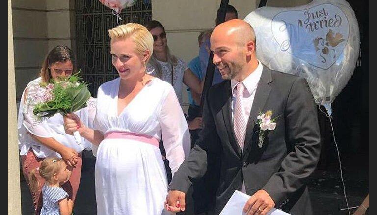 Maija Tīruma Vācijā apprecējusies ar gaidāmā bērniņa tēvu
