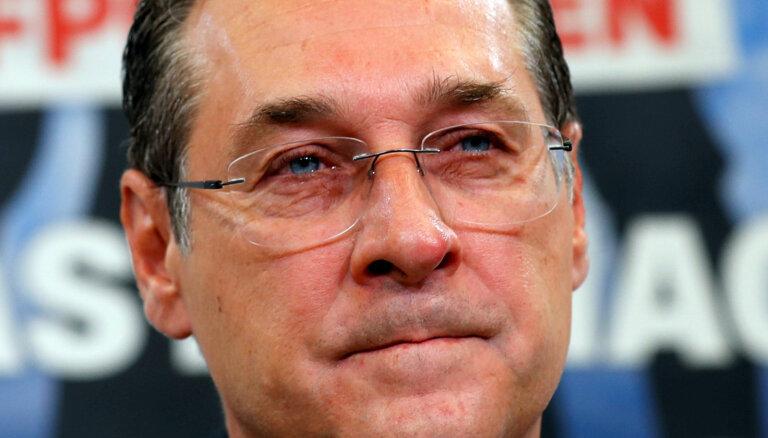 Ietekmi tirgojušais Austrijas vicekanclers Štrahe atteicies no EP deputāta mandāta